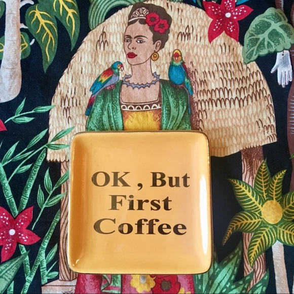"NWOT ""OK, BUT FIRST COFFEE"" ☕️ Trinket Tray ☀️"